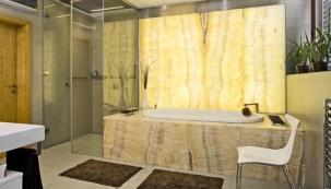Zrekonstruovaná podkrovní koupelna