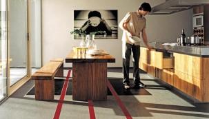 Přírodní linoleum do kuchyně