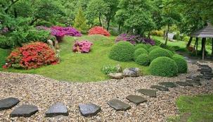 Meditace v japonské zahradě