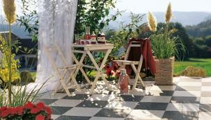 Zahradní terasa z keramiky či betonu