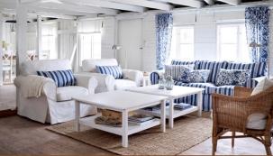 Obývací pokoj s romantickým výhledem