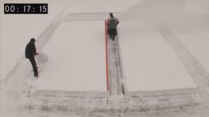 Sněhová fréza Mountfield v akci
