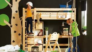 Patrová postel je vhodným řešením do malých pokojů. Prostor pod postelí lze využít pro pracovní stůl i úložné systémy