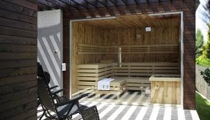 Odpočinek v zahradní sauně