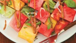 Melounový salát s fíkovou zálivkou