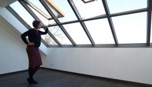 Střešní prosklení Solara HISTORIK na vile v Dejvicích