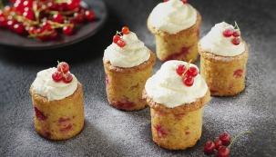 Rybízové cupcaky