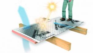Vizualizace systému se solární úpravou proti přehřívání střechy