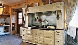 Venkovská rustikální kuchyně