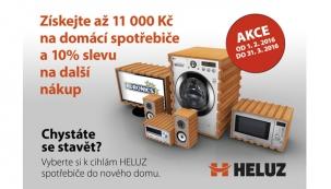 S cihlami HELUZ si nyní můžete výhodně pořídit spotřebiče Euronics.