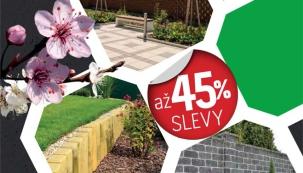V pátek 1. dubna startují slevy na vybrané výrobky značky PRESBETON. Neváhejte a nakupujte se slevou až 45%.