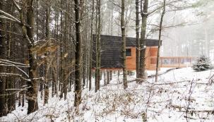 2016 AIA Housing Awards: Chatky v chráněné oblasti Whitetail Woods, Minnesota (Foto: Pete VonDeLinde)