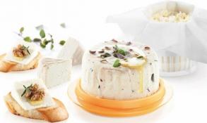 Vynikající pro výrobu čerstvého domácího sýru, díky intenzivnímu stlačení během přípravy má sýr lahodnou chuť a správnou konzistenci. Souprava obsahuje podnos s poklopem pro podávání a skladování hotového sýru a 5 ks netkaného plátna pro opakované použití. Vyrobeno z prvotřídního odolného plastu, pružina z nerezavějící oceli. Návod k použití s receptem uvnitř balení. 3 roky záruka. Cena 399 Kč, www.eshop.tescoma.cz