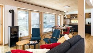 Domesi Concept House vBudíkově uHumpolce je druhým vzorovým domem společnosti, vekterém si zájemci mohou vyzkoušet bydlení navlastní kůži. (DOMESI-PRODESI)