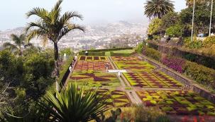 Botanická zahrada veFunchalu nabízí kombinaci krásných rostlin ajedinečných výhledů naměsto.