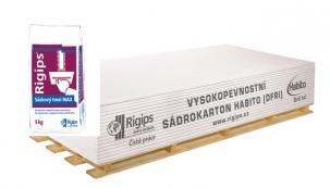 Za každých osm vysokopevnostních sádrokartonových desek Habito, které koupíte na Rigips eShopu, získáte jedno 5kg balení tmelu MAX za 1 Kč.