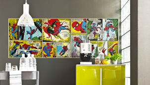 Fototapeta Spiderman z kolekce Marvel Comics, 202 x 73 cm, vyrábí Komar, www.na-zed-fototapety.cz