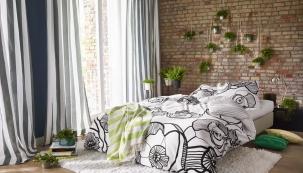 Povlečení zkolekce Lora, materiál 100% saténová bavlna, Esprit Home, polštář 50 x 70cm, cena cca 470Kč, přikrývka 140 x 200cm, www.french-brand.com