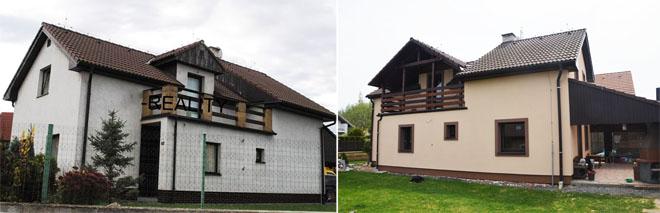 """Projekt č. 33: Zateplení, fasáda a velké okno - Marta Demuthová: """"Zasílám foto našeho projektu: zateplení, fasáda, dodělané velké okno vpravo od balkonu."""""""