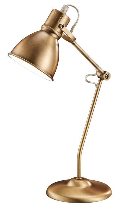 V jejím stylu: Stolní lampa Jasper, těleso kov, vnější povrch měděný lesk, vnitřní bílý, pro žárovku 40 W, www.svetlo-svitidla-osvetleni.cz