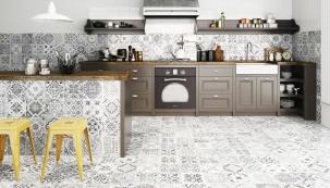 Keramické dlažby jsou díky hodnotě tep. odporu (cca 0,004 m2K/W) na špici žebříčku krytin vhodných pro podlahové vytápění a také nabízejí nejbohatší výběr dekorů (ukázka je z nabídky sítě prodejen SIKO)