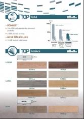 Podlaha GERFLOR TopSilence je několikanásobně tišší než standardní plovoucí podlaha, o 50% snižuje šíření ozvěny a vynikající je i hodnota zvukové izolace, a to 18 dB. Kromě ticha, odolnosti a dekorů oceníte i komfort při chůzi - díky textilní podložce je podlaha výjimečně pohodlná. (1)