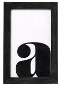 Nástěnný obrázek spísmenem, dřevěný nelakovaný rámeček vhodný pro další dekor či lak, 10 x 15cm, www.nordicday.cz