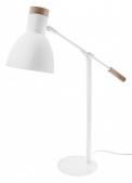 Kovová bílá lampa Aura sdecentními dřevěnými detaily, výška 56cm, www.pentik.com