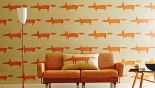 1. Tapeta Mr. Fox z kolekce Spirit & Soul Wallpapers, šířka 52 cm, opakování vzoru po 52 cm, Scion, www.scion.uk.com