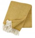 V jejich stylu: Vlněný pléd Samba yellow ze 100% ovčí vlny, design Birgitta Bengtsson Björk, 130 x 200cm, www.get-inspired.eu