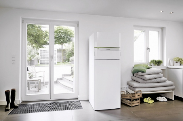 Tepelné čerpadlo flexo COMPACT exclusive se zásobníkem teplé vody a funkcí chlazení (VAILLANT)