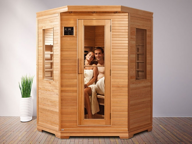 Kdykoliv za sebou zavřete dveře sauny a relaxujete v blahodárném teple. Na fotografii model Sumba. (Foto: MOUNTFIELD)