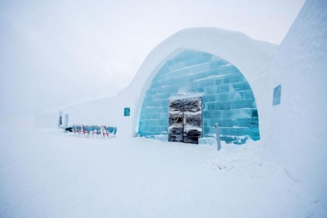 Příklad využití tepelných čerpadel NIBE - Ledový hotel v Jukkasjärvi
