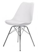 Designové vybavení: Jídelní židle Porgy Gina má ocelovou konstrukci, plastovou skořepinu ačalouněný sedák zekokůže, cena 3099Kč, www.jena-nabytek.cz