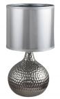 Stolní lampa Rozin, keramika súpravou vlesklém chromu, v. 36 cm, www.dum-svitidel.cz