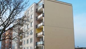Pohled na štítovou stěnu po zateplení provětrávanou fasádou Diagonal 2H od Knauf Insulation. (Zdroj: Knauf Insulation)
