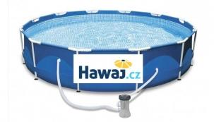 Jak se v létě udržovat v kondici i během pracovního týdne? Pořiďte si na zahradu bazén a naučte se ho využívat nejen k odpoledním radovánkám. (Foto: Hawaj.cz)