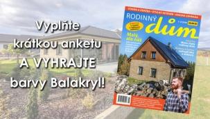 Anketa časopisu Rodinný dům 1-2/2018