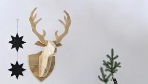Nemusíte být zrovna myslivci, abyste si na stěnu mohli pověsit loveckou trofej. Úplně si postačíte s nápadem, šikovnýma rukama a několika dřevěnými latěmi.