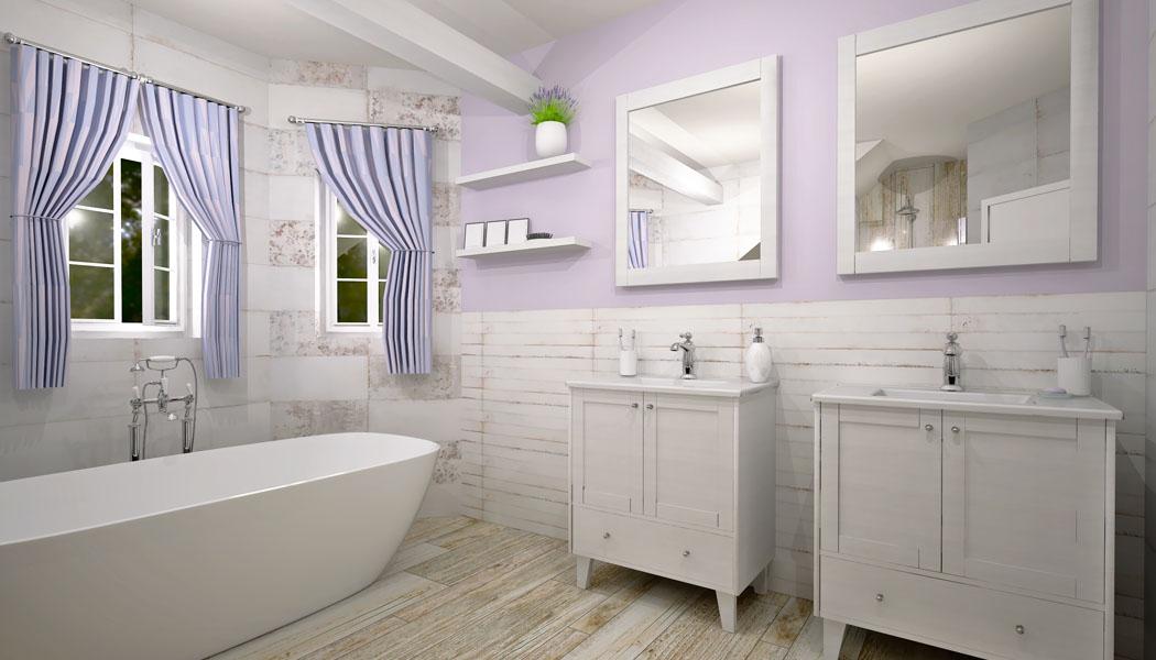 Návrh koupelny: Poetická Provence