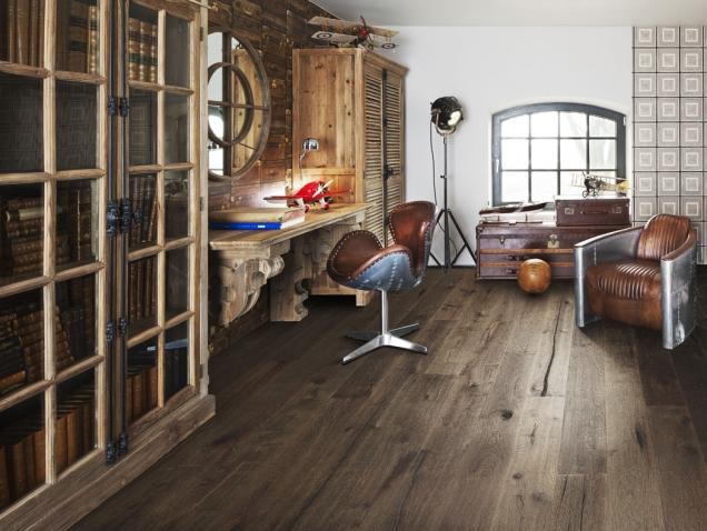 Dřevěná podlaha KÄHRS, kolekce Founders, dekor Dub Ulf, prodává KPP