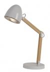 V jejich stylu: Stolní LED lampa Benjy značky Lucide, kov/dřevo, výška 40 až 60cm, cena 1777 Kč, www.sterixretro.cz