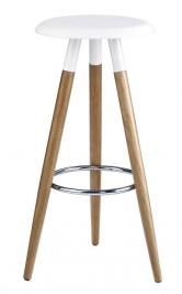 Barová židle H-50, výška 78cm, provedení olše, bílá barva, cena 1321Kč, www.jena-nabytek.cz