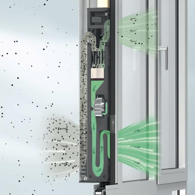 Ventilační systém Schüco VentoLife