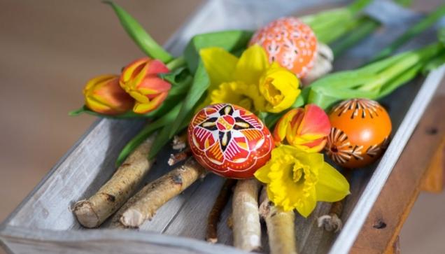 Důležitým symbolem Velikonoc je vajíčko.