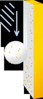 Schéma tzv. rosa efektu, který vede k přirozenému čištění omítky. (Zdroj: Cemix)