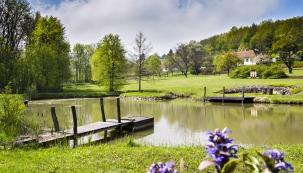 Vúdolí řeky Litavy, na dohled chřibských lesů, stojí moderní dům akolem něj se ze všech stran prostírá velkorysá zahrada, která proměňuje sny majitelů opokojném životě na venkově ve skutečnost.