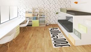 Nazákladě požadavků klientů vybrala designérka nábytek odvýrobce Lagrama, jehož kolekce je velmi hravá avariabilní, ale zároveň nadčasová svelmi kvalitním zpracováním.