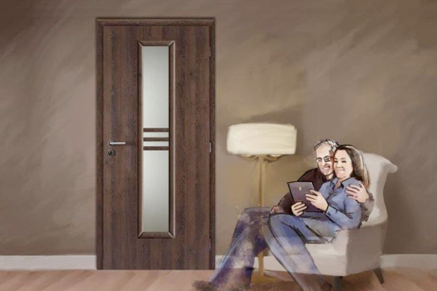 Dveře Masonite, model Stripe, povrchová úprava CPL laminát deluxe, dekor dub kubánský