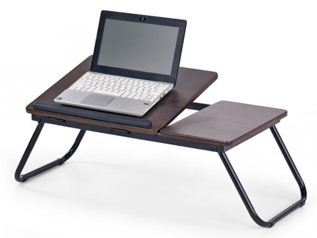Stolek B-19 na notebook s praktickou sklopnou deskou a odkládací plochou, ocel a MDF, cena 399 Kč, www.jena-nabytek.cz